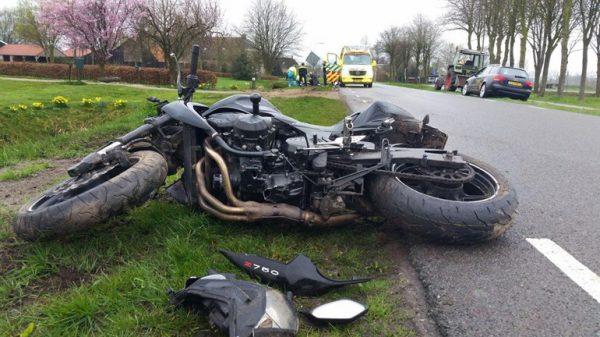 Motorrijder gewond na val in Ruinerwold