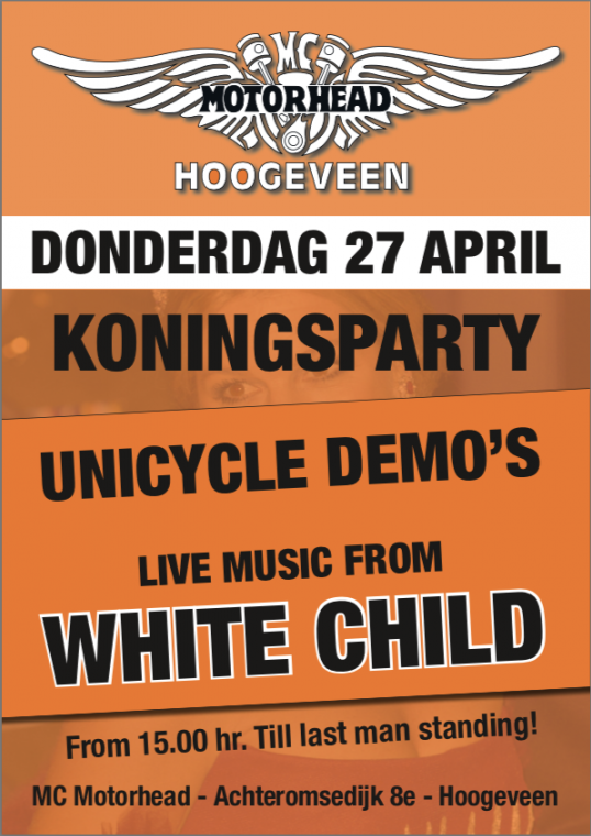 Koningsdag 2017 Unicycle races