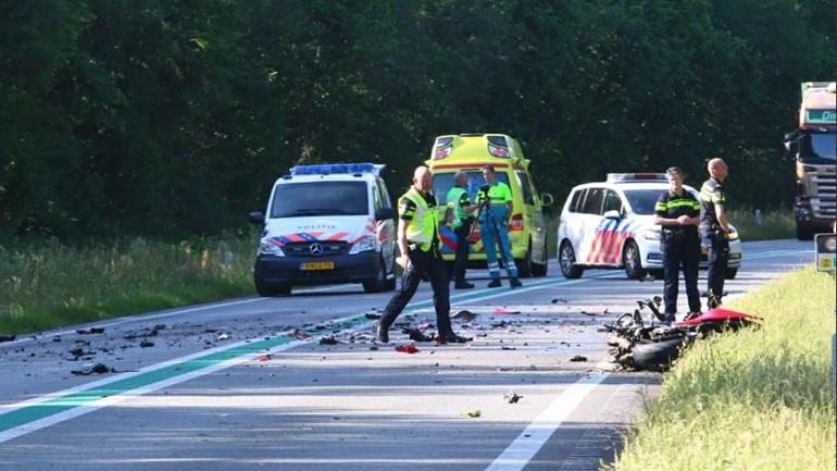 Motorrijder overleden bij aanrijding op N34