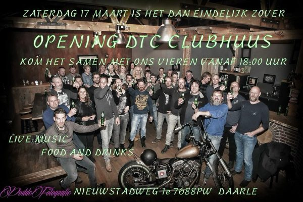 17 maart opening DTC clubhuis